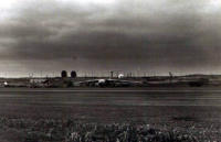 View Across The Tarmac Looking Towards The Radars. [George L. Smith]