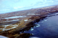 First View Of Shemya, AK, April 1975. [George L. Smith]